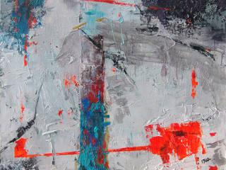 Abstract acrylic painting W80xS100cm: styl , w kategorii  zaprojektowany przez Iwonabilska