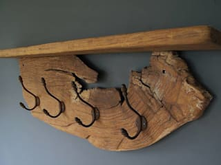 Antique Oak Coat Rack:   by Seagirl and Magpie