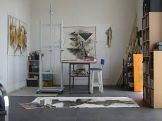 espacios con arte Estudios y oficinas minimalistas de Daniel Vidal Minimalista Caliza