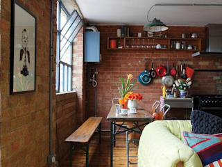 A Converted Warehouse in East London Heart Home magazine Ruang Makan Gaya Industrial
