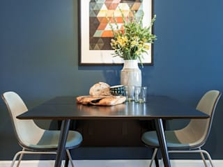 A Rented NY Apartment with a Sense of History: industrial Dining room by Heart Home magazine