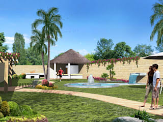 Milla Arquitectos S.A. de C.V. Rustic style garden