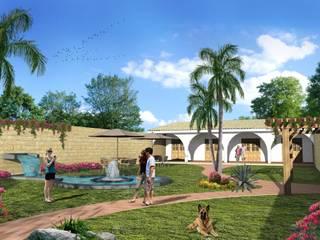 Jardines de estilo  por Milla Arquitectos S.A. de C.V., Rústico