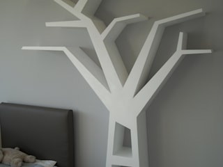 Regał drzewo : styl , w kategorii  zaprojektowany przez INSPIRUJĄCE PÓŁKI