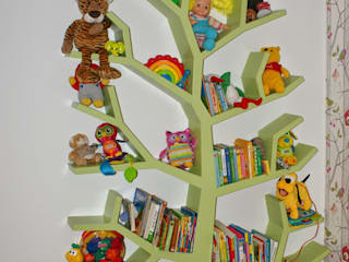 Regał drzewo 190x130x16cm: styl , w kategorii  zaprojektowany przez INSPIRUJĄCE PÓŁKI