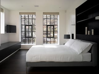 Brassworks: modern Bedroom by Belsize Architects