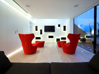 Pond Street Belsize Architects Modern style media rooms