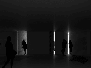 Caminos de Luz - Instalación artística en un centro cultural Salas multimedia de estilo moderno de Álvaro Díaz Hernández Moderno