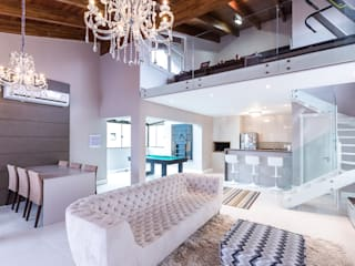 Camila Chalon Arquitetura Classic style media room Beige