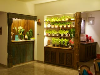 planter cum room divider:  Living room by uttara and adwait furniture