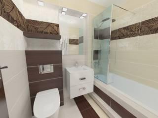 Katarzyna Wnęk 現代浴室設計點子、靈感&圖片 Beige