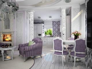 Проект 2х этажного коттеджа в стиле современная классика: Столовые комнаты в . Автор – Инна Михайская,