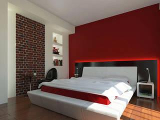 Dormitorios de estilo moderno de Katarzyna Wnęk Moderno