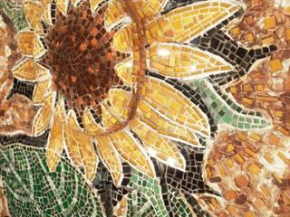 sunflower: Arte in stile  di mosaico di Marzia Dottarelli