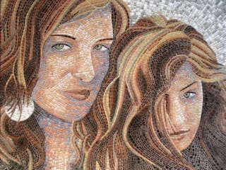 glass-mosaic classic di mosaico di Marzia Dottarelli Moderno