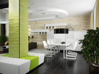 Проект квартиры-студии: Столовые комнаты в . Автор – Инна Михайская,