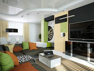 Проект квартиры-студии: Гостиная в . Автор – Инна Михайская,