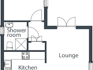 One bedroom Wee House Floor Plan The Wee House Company Casas clássicas