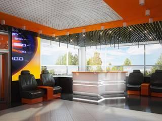 Проект автомойки: Медиа комнаты в . Автор – Инна Михайская,