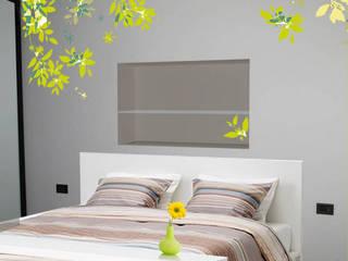Rendering Photoshop Camera da letto moderna di CA'MI design Moderno