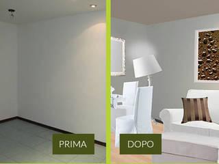 Rendering Photoshop Soggiorno moderno di CA'MI design Moderno