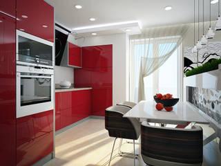 Проект 3х комнатной квартиры в Харькове: Кухни в . Автор – Инна Михайская,