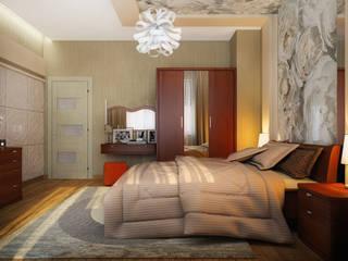 Проект 3х комнатной квартиры в Харькове: Спальни в . Автор – Инна Михайская,