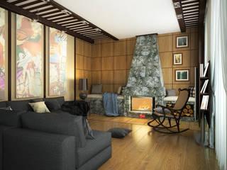 Ausgefallene Wohnzimmer von Инна Михайская Ausgefallen