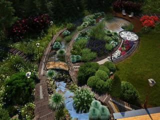 Безмятежное Сад в стиле модерн от Мастерская ландшафта Дмитрия Бородавкина Модерн