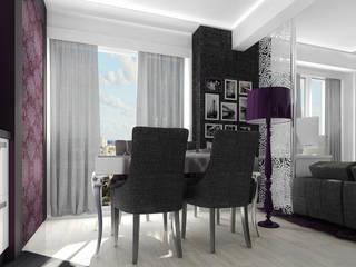 Проект квартиры-студии в Москве: Столовые комнаты в . Автор – Инна Михайская,