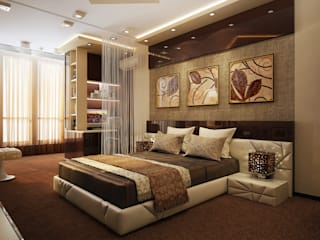 Проект 4х комнатной квартиры: Спальни в . Автор – Инна Михайская,