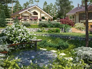 Taman Gaya Country Oleh Мастерская ландшафта Дмитрия Бородавкина Country