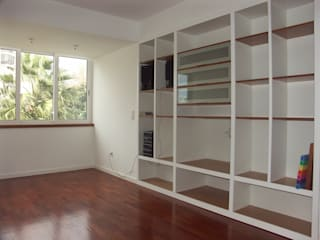Apartamento T2, em São João do Estoril - Remodelação Integral Salas de estar modernas por LUGAR VIVO, ARQUITECTURA, LDA Moderno