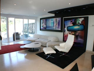 Vivienda en el Soto de la Moraleja Salones de estilo moderno de gs arquitectos Moderno