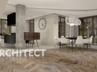 Aranżacja wnętrza http://thearchitect.pl Nowoczesny salon od THE ARCHITECT DESIGN Nowoczesny