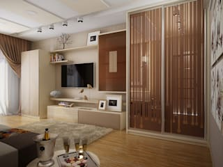 Проект 2х комнатной квартиры: Гостиная в . Автор – Инна Михайская,