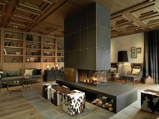 Parquets BAUWERK : Salon de style  par BAUWERK PARQUET