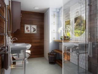 Проект гостевого домика : Ванные комнаты в . Автор – Инна Михайская,