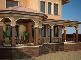 Оформление патио и входной группы Балконы и веранды в эклектичном стиле от Студия авторского дизайна БОН ТОН Эклектичный