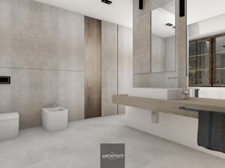Projekty wnętrz http://Thearchitect.pl Nowoczesna łazienka od THE ARCHITECT DESIGN Nowoczesny