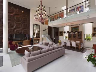Villa Julia Kiev Soggiorno eclettico di MG International Srl Eclettico