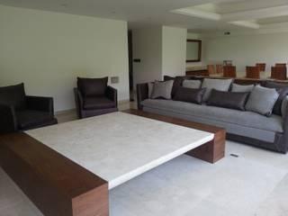 Sala sobre diseño:  de estilo  por ARMONIC stone & wood design