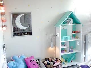Domek dla lalek - MEGA Miętowy od MyWoodVillage Skandynawski