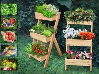 Mundo Garden: modern tarz , Modern Masif Ahşap Rengarenk