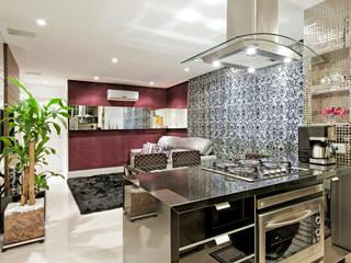 Apartamento Conjugado Cozinhas modernas por Luciana Hara Arquitetura Moderno