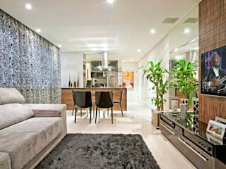 Apartamento Conjugado Salas de estar modernas por Luciana Hara Arquitetura Moderno