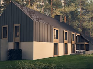 Scandinavian style houses by KOZIEJ ARCHITEKCI Scandinavian