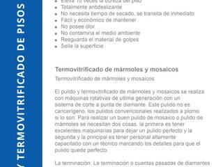 Pulido y Termo Vitrificado de Pisos Indinaco srl Construcciones y servicios