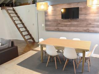 Rustic style dining room by Estudio Nicolas Pierry Rustic