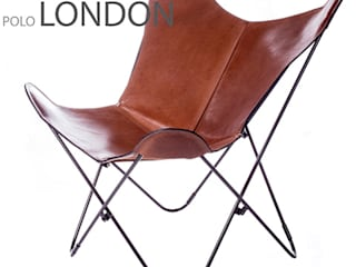 BKF Polo London leather chair with black frame de Big BKF Buenos Aires Clásico